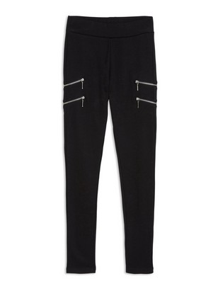 Leggings with Zippers Black