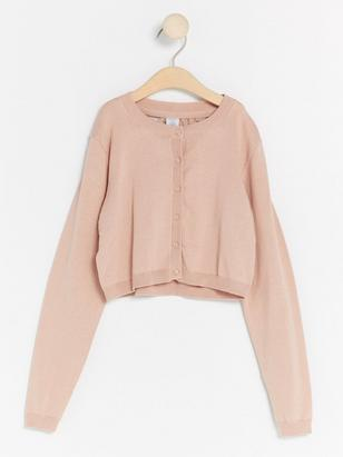 Short Cardigan with Lace Pink