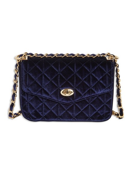 Sametová kabelka Modrá