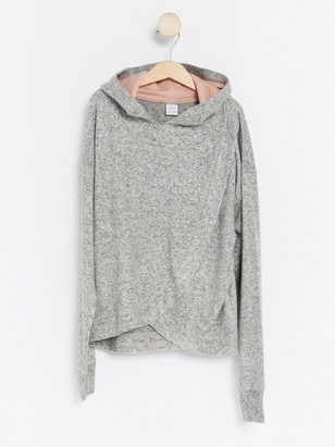Grey Hooded Sweater Grey