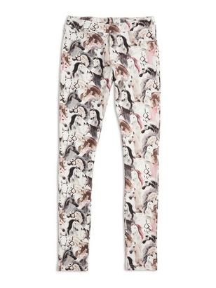 Patterned Leggings White