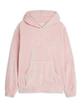 Hooded Velour Sweater Pink