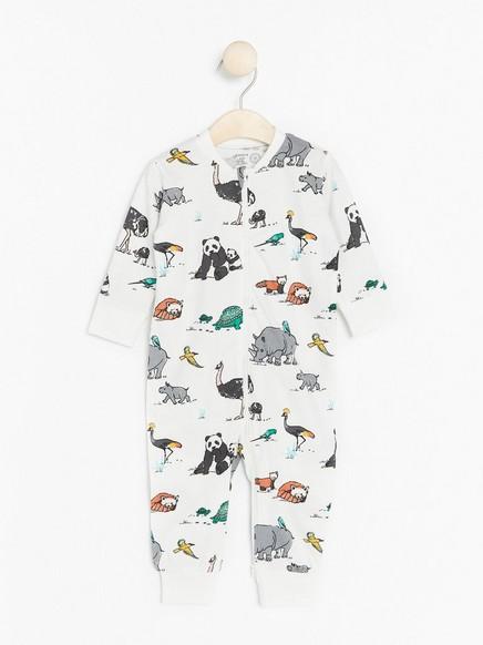 Pyžamo Bílá
