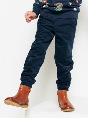 Loose Lined Corduroy Trousers Blue