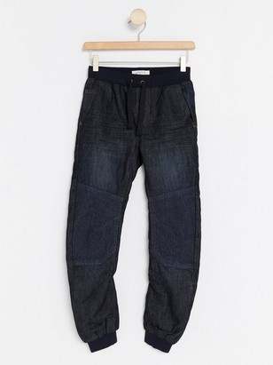 Loose Jeans with Reinforced Knees Blue