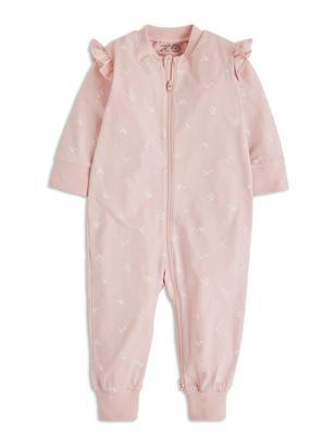 Pyjamas with Print and Frills Pink