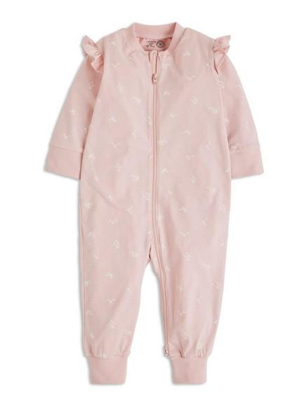 Pyžamo spotiskem avolánky Růžová