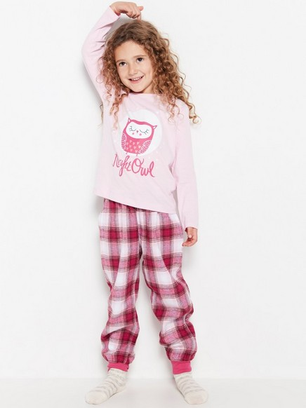 Pyjamas with Flannel Trousers Pink