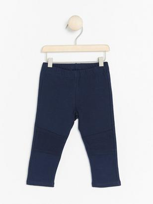 Leggings with Brushed Inside Blue