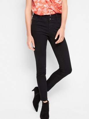 LILLY Svarta slim fit shaping jeans Svart