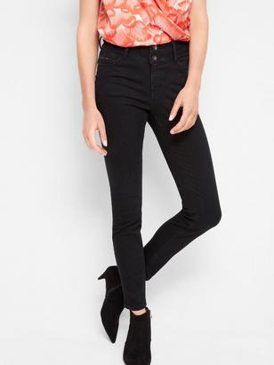LILLY Black slim fit shaping jeans Black