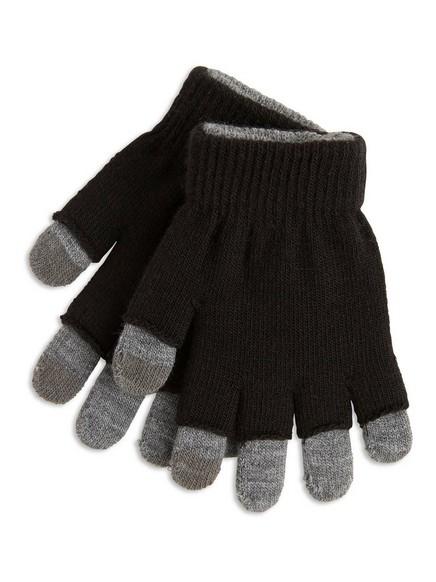 Magic-sormikkaat, jotka toimivat kosketusnäytöllä Musta