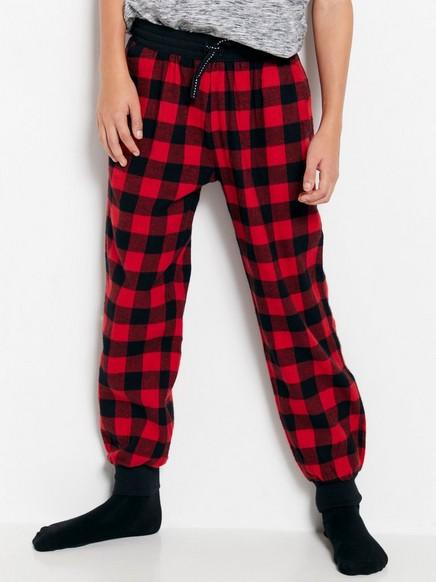 Flanelové pyžamové kalhoty Červená