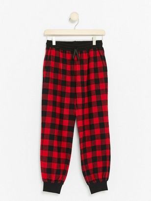 Flannel Pyjama Trousers Red