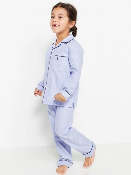 Striped Cotton Pyjamas Blue