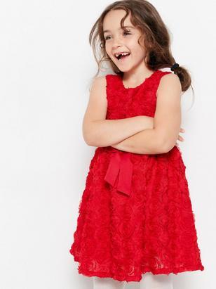 Chiffon Dress Red