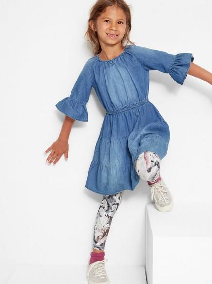 Džínové šaty svolány Modrá