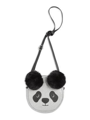 Glitter Panda Bag Black