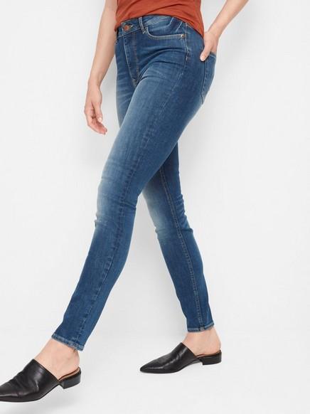 VERA Skinny High Jeans Blå