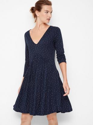 Dress in Tencel® Blend Blue