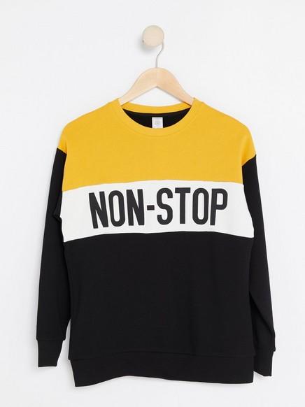 Sweatshirt with Print Black