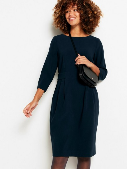 Šaty skapsami Modrá