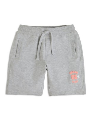 Shorts i collegegensermateriale Grå