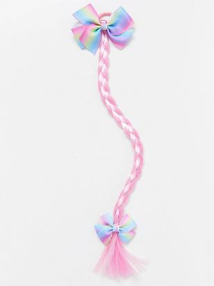Hair Elastic with Braid Pink