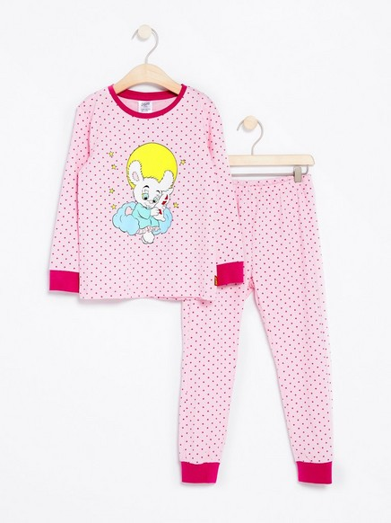 Pyjamas with Bamse Print Pink
