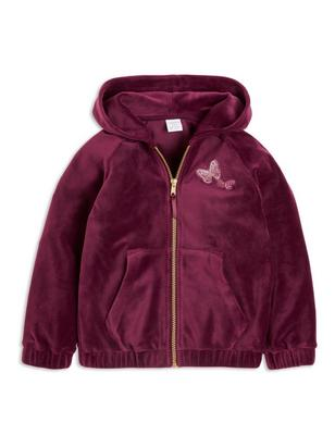 Embroidered Velour Jacket Lilac