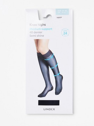 Medium Support Knee Highs Blue