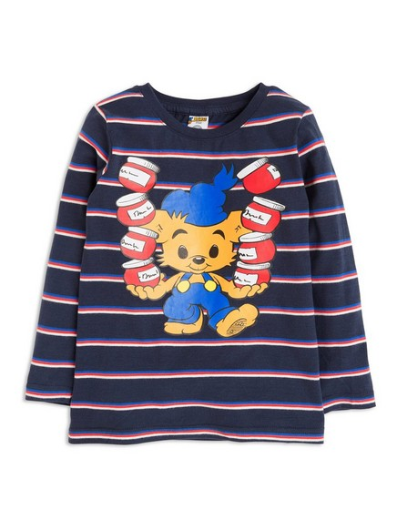 T-shirt with Bamse Print Blue