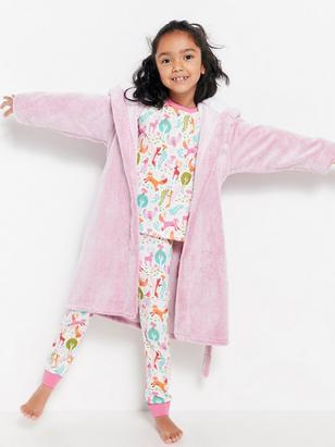 Fleece Bathrobe Pink