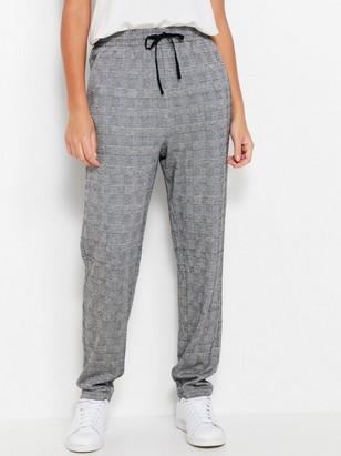 Zúžené kostkované kalhoty Šedivá