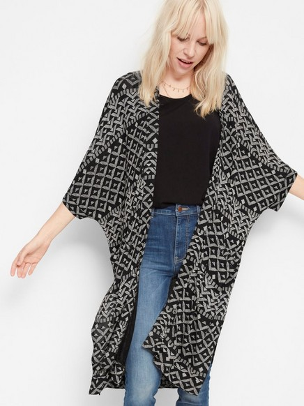 Kimono i Tencel®-blandning Svart