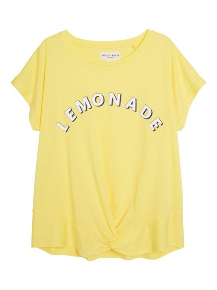 Top with Print Yellow