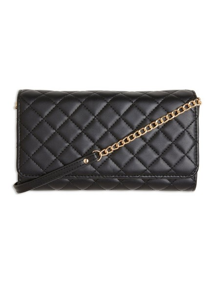 Quilited Clutch Bag Black