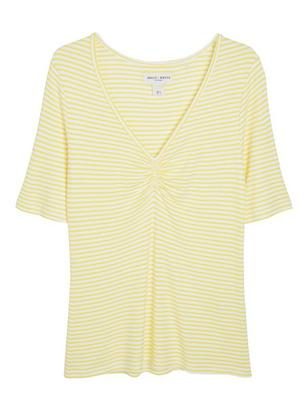 V-neck Top Yellow