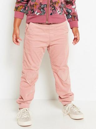 Loose Cord Trousers Pink