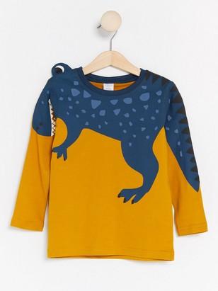T-skjorte med dinosaur Gul