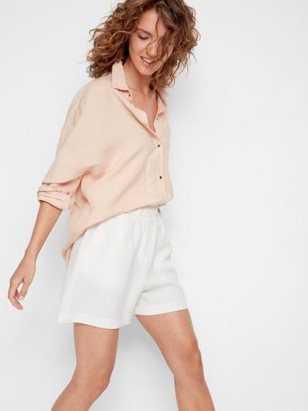 Shorts i Tencel®-blandning Vit