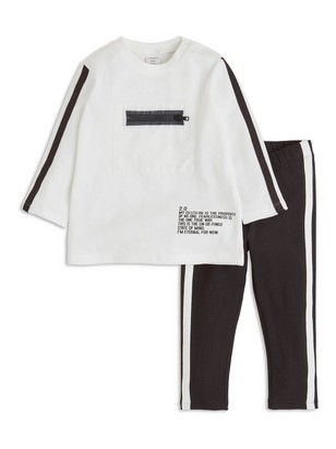 Set with Top and Leggings White