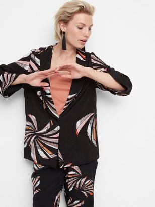 Soft Jacket in Viscose Black
