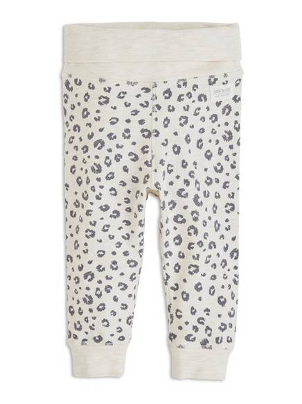 Leopardikuvioidut housut Beige
