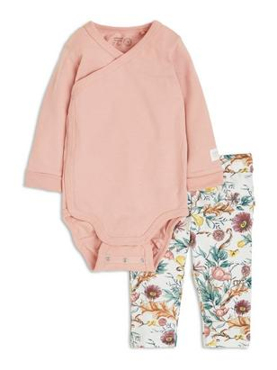 Set with Bodysuit and Leggings Pink