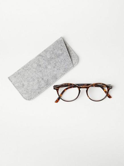Kulaté brýle na čtení Hnědá