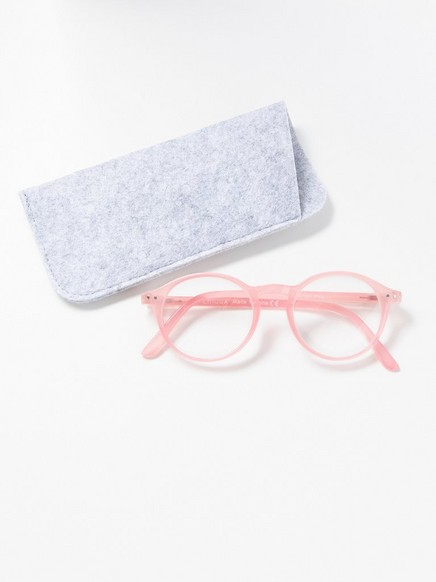 Runda läsglasögon Rosa