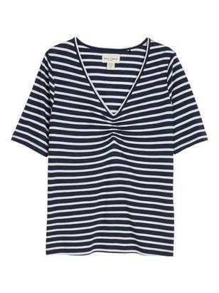 Striped Top in Tencel® Blend Blue
