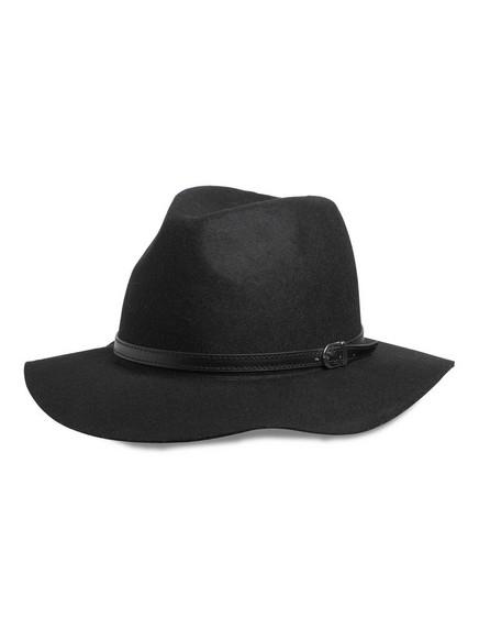 Vlněný klobouk Černá