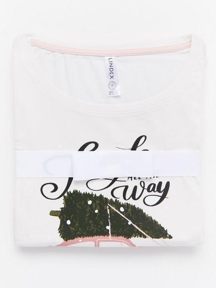 Pyjamassett med trykk Rosa